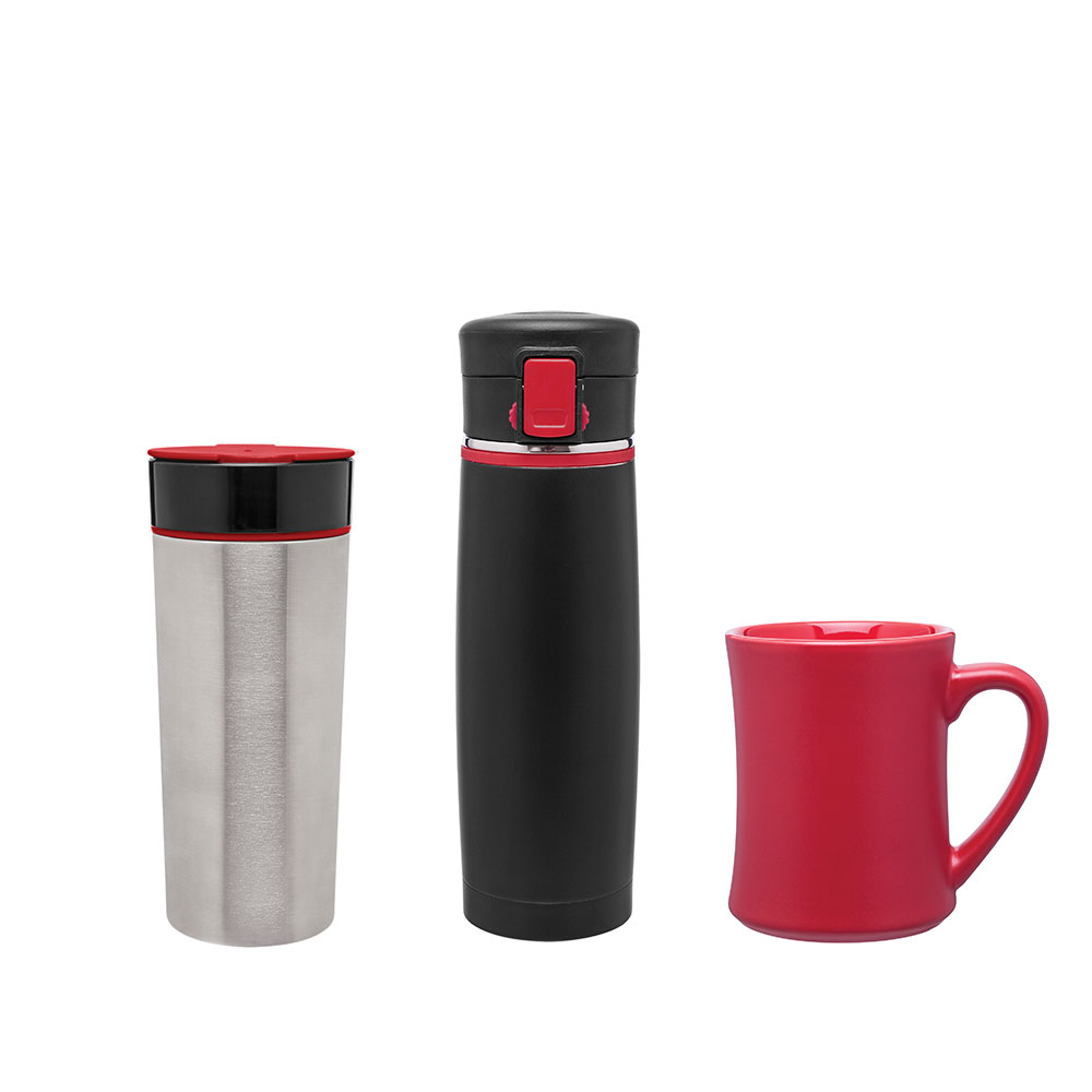 Red custom drinkware