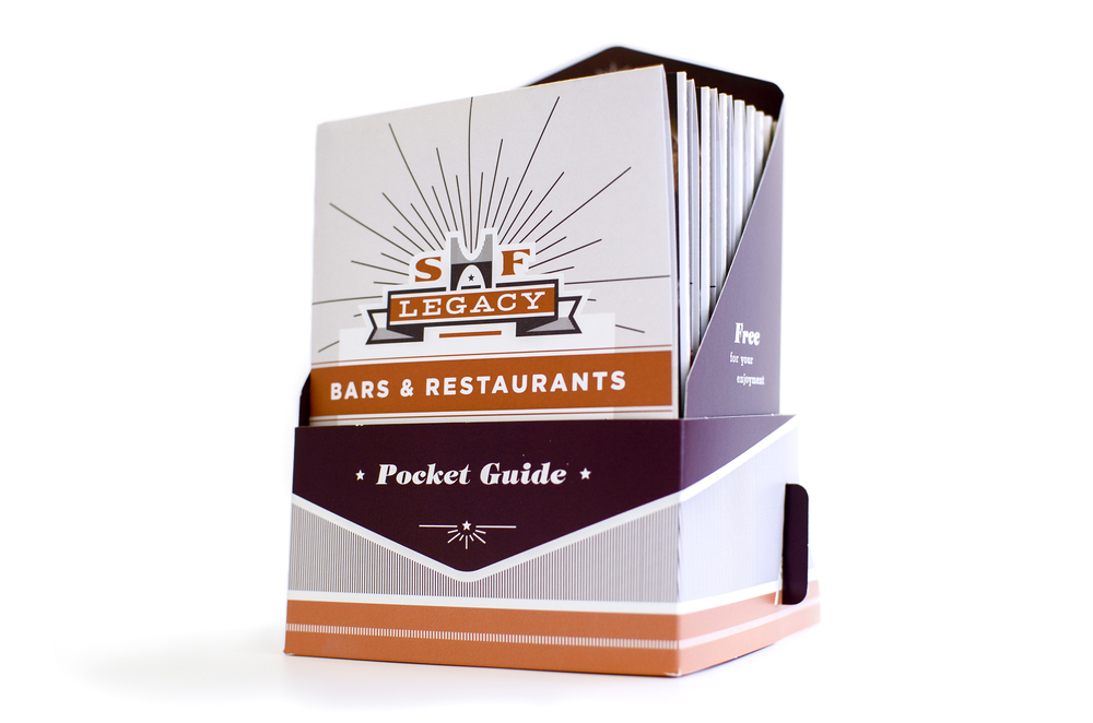 Our most recent work for San Francisco Heritage's Legacy Bars & Restaurants project, featuring 100 of the City's most treasured establishments. Download copy of the map.