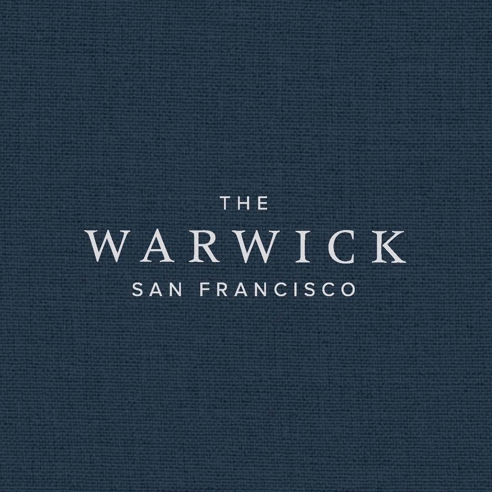 The Warwick San Francisco's traditional serif logotype was happily married to a clean, modern, sans serif to give the hotel's identity a more contemporary sensibility.