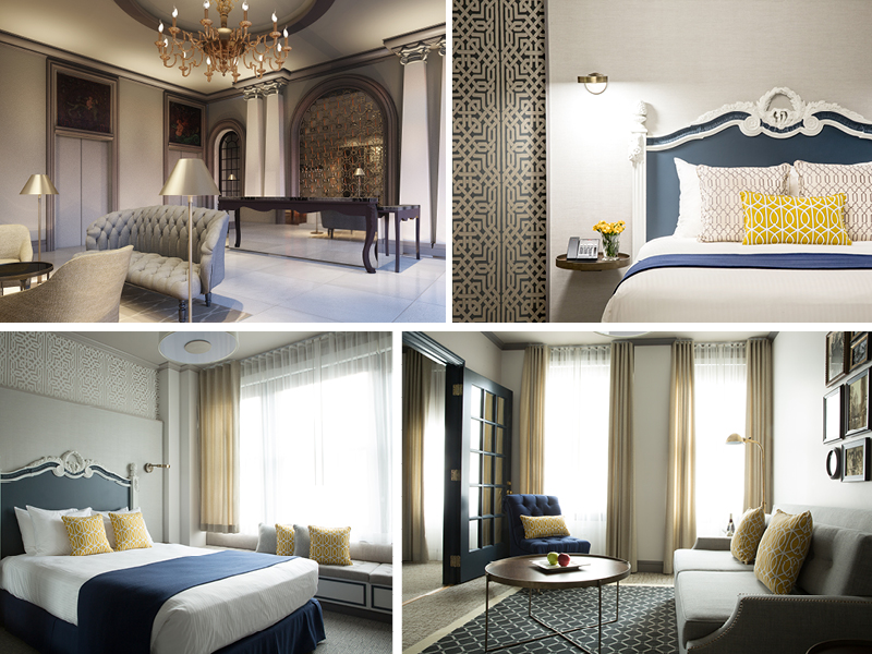 Respite for today's traveler:refurbished hotel interiors, guest rooms and suites. Photos by Aubrie Pick