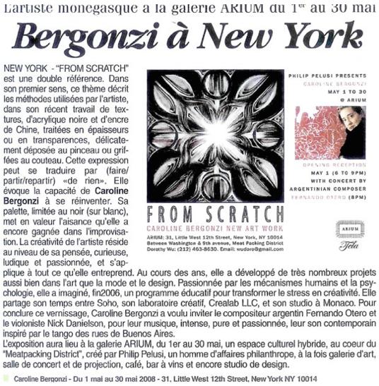 Philip Pelusi  presents CAROLINE BERGONZI at  Arium Gallery  in NYC