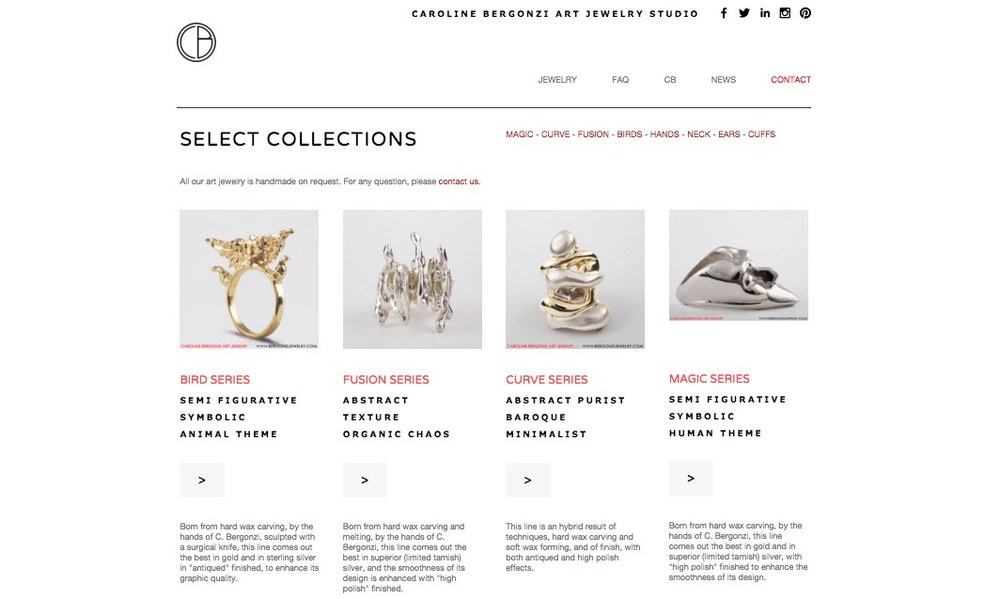 Jewelry online store.