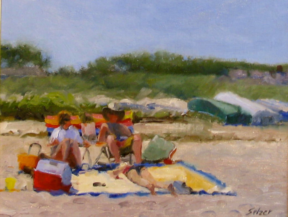 Chatham Beach  Oil 8 x 10 $600