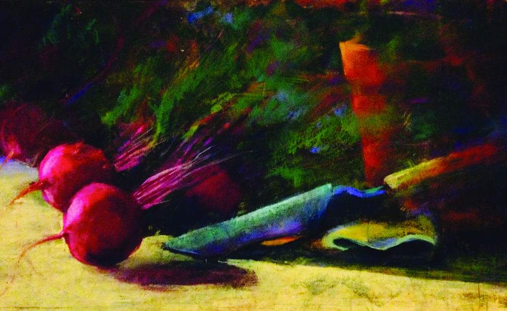 Beets! 12 x 24 pastel by Barbara Stone   SOLD