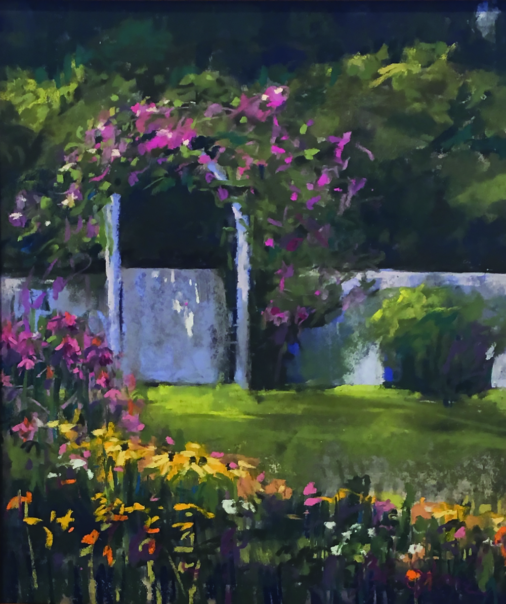 The Arbor Gate  9 x 12 pastel by Barbara Stone SOLD