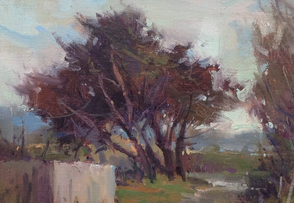 Richard McKinley's demo in oil near Mayflower Beach on Cape Cod.