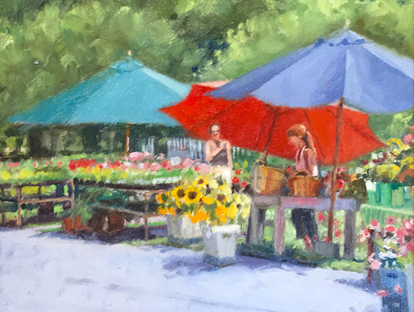 Flower Market     6 x 8   Oil   $400