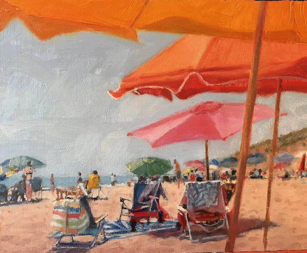 Saturday Seashore   8 x 10 Oil  / $600