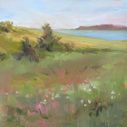 July Meadow   6 x 6  Oil  / $275