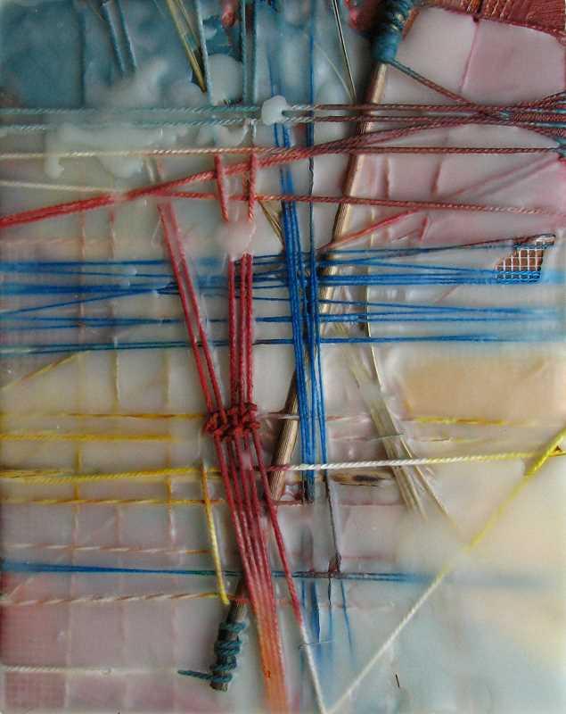 Reeds   10 x 8     Encaustic / Mixed Media   $350