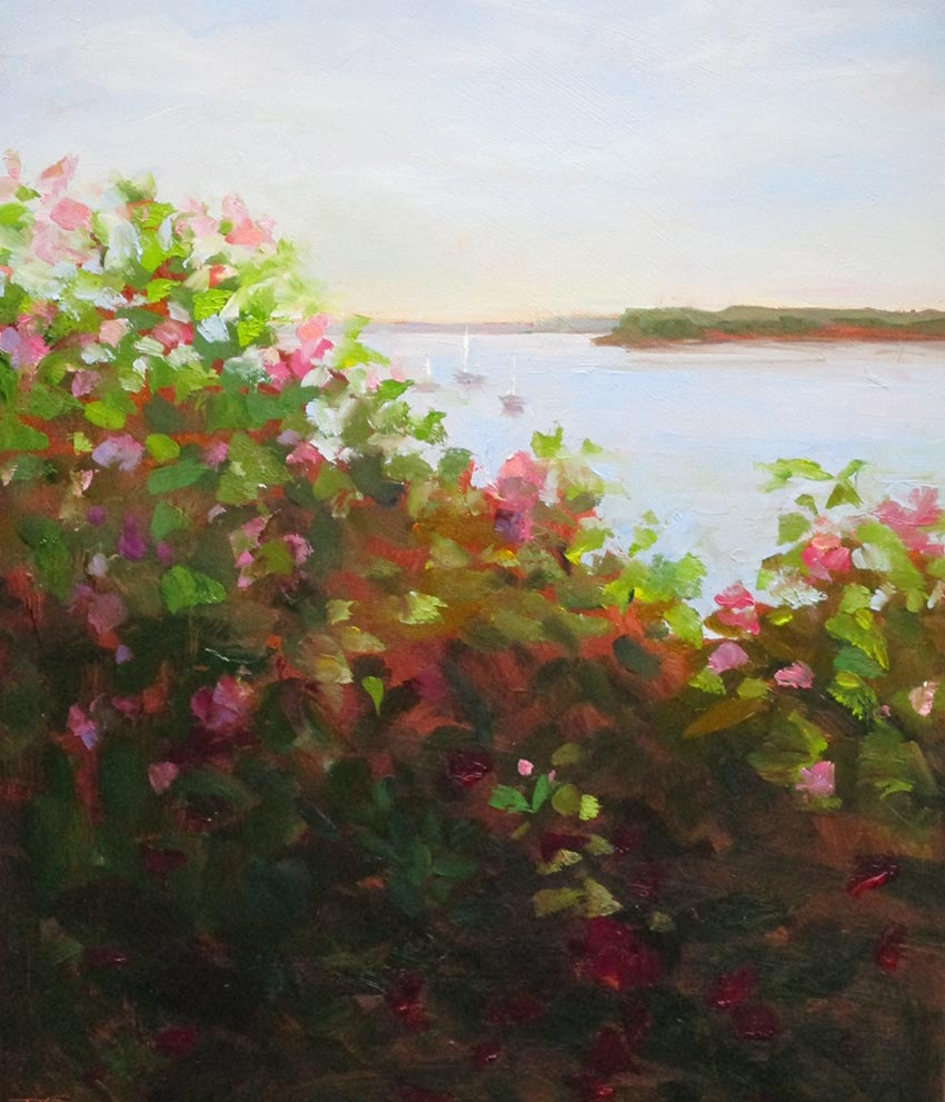 Harbor Overlook   11 x 14 Oil $500 by Joanne Talbot Quinn