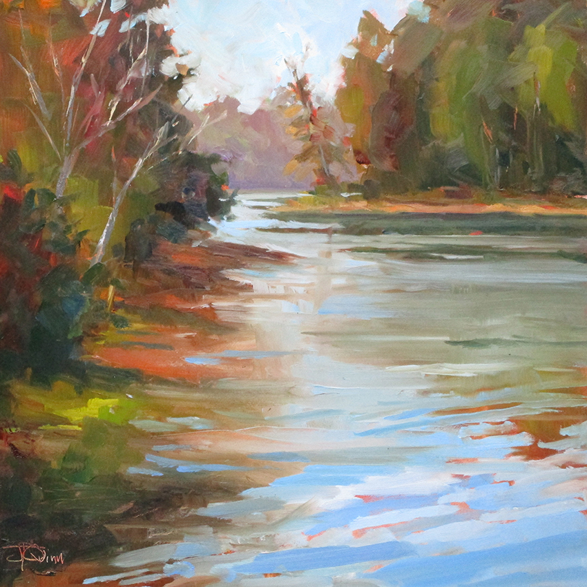Light on the Water    12 x 12 Oil by Joanne Talbot Quinn