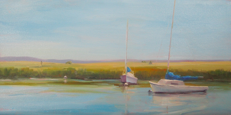 A Tranquil Morning   8 x 16  Oil  $600 by Joanne Talbot Quinn