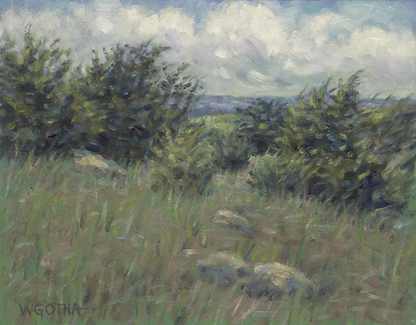 Sea Breeze, Paine's Creek, Brewster  11 x 14 Oil by William Gotha / $950