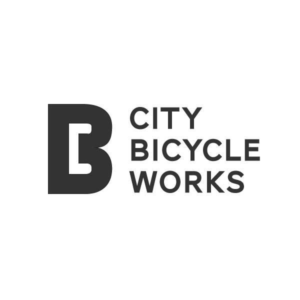 Logo design for bicycle shop City Bicycle Works.
