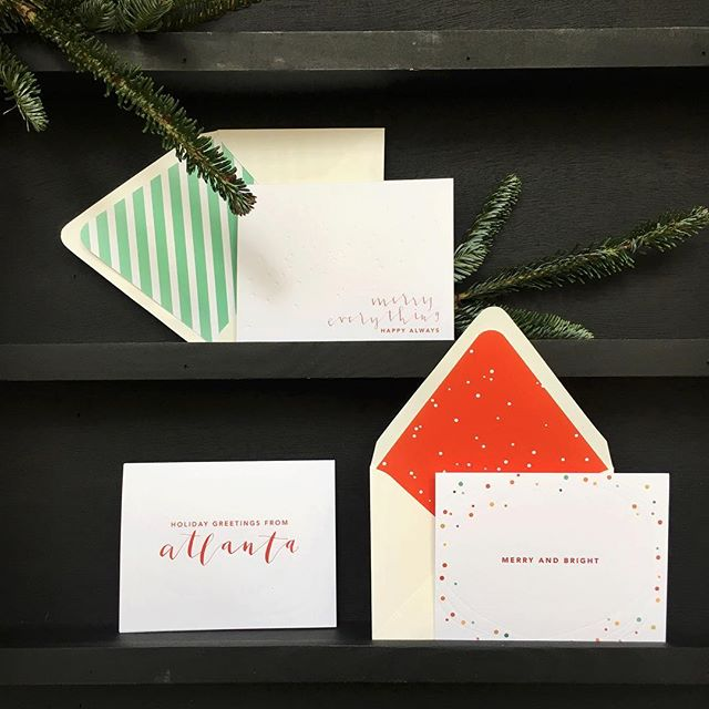 Still need holiday cards? Still 50% off in the shop through tomorrow! Cards, fun envelope liners, holiday stamps :: everything you need to create fun holiday mail for the people you love. 📮💌 (Shop link in profile // code: GRATEFUL)