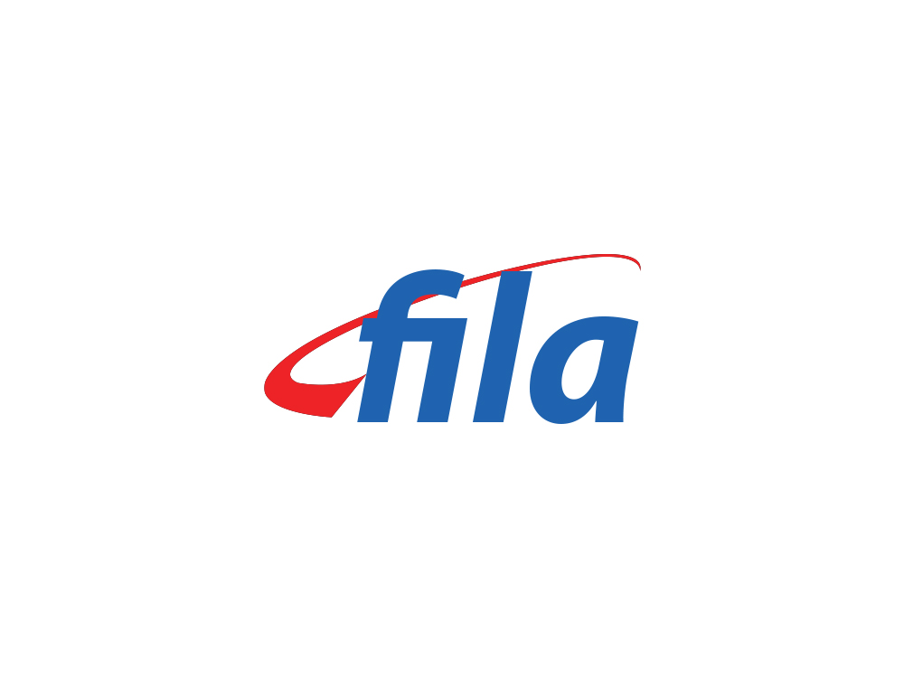 Fila performance logo. By keeping the red and blue color palette, I gave Fila a fresh look while maintaing a link to it's past.