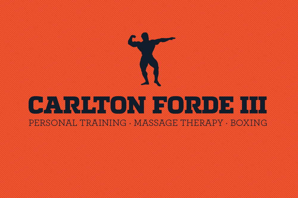 Logo Version 1. This version was very centered around the typographic lockup. I felt that bold slab serif combined with the thin serif worked together to create a composition that communicated strength, masculinity and elegance. The bodybuilder icon also helped to convey a sense of power.