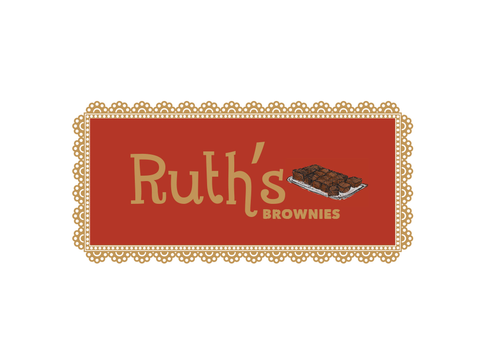 Logo for chain of homemade brownies stores.