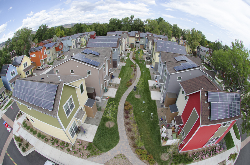Aerial photo of solar neighborhood