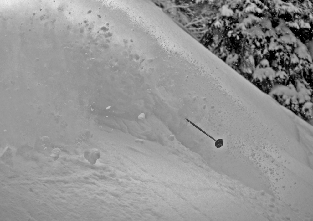 Powder snow almost too deep
