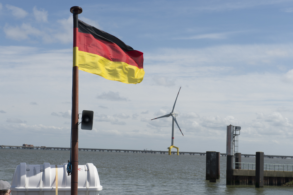 German flag and wind energy