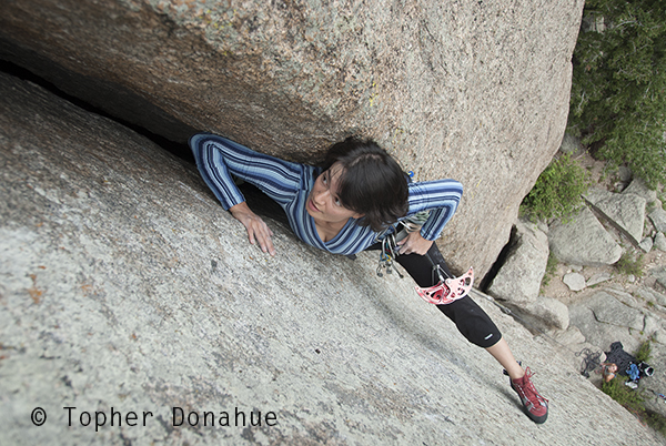 Rock climbing, Rocky Mountain National Park.