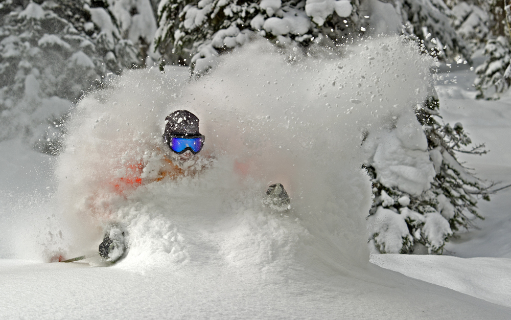 Powder skiing in Canada.