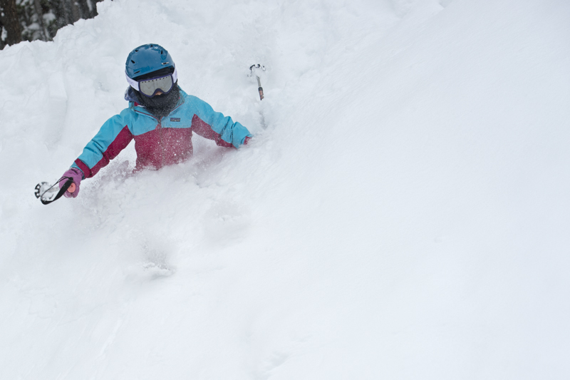 When you're only 4 feet tall, waist deep comes a lot more often, and you don't need to be in avalanche terrain to make some great powder turns.