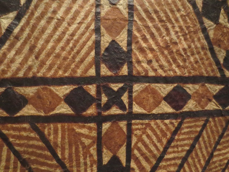 Detail of Samoan bark cloth (siapo).