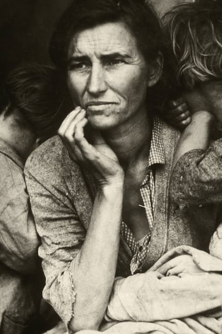 """Migrant Mother"" (1930s), by Dorothea Lange. Source: https://commons.wikimedia.org/"