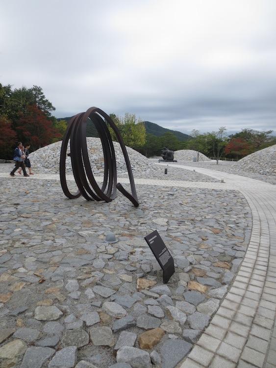"""Undetermined Line"" (1992), by Bernar Venet."