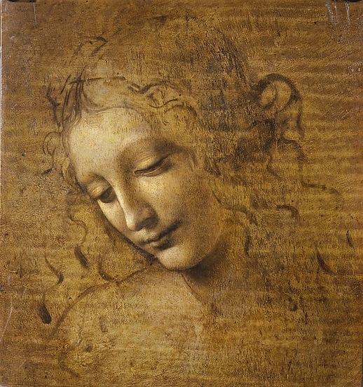 Head of a Woman (La Scapigliata), by Leonardo da Vinci, 1500-1505. Scala / Ministero per i Beni e le  Attività culturali /Art Resource, NY. Galleria Nazionale di Parma, Italy.
