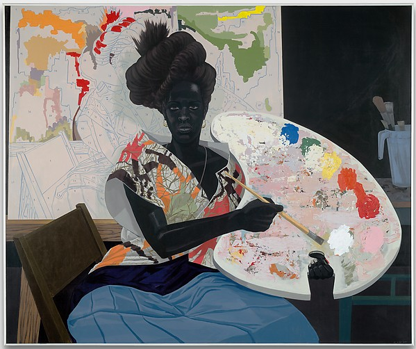 """Untitled"" (2009), by Kerry James Marshall. Yale University Art Gallery. Photo © Kerry James Marshall, courtesy the artist and Jack Shainman Gallery, New York. Source: http://metmuseum.org/exhibitions."