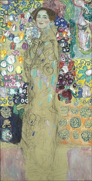 Posthumous Portrait of Ria Munk III (1917-1918), by Gustav Klimt. The Lewis Collection, The Met Breuer, New York.