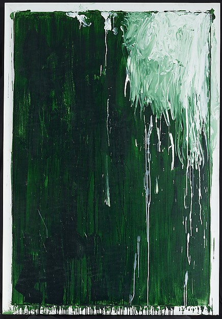 """Untitled II (Green Paintings)"" (ca. 1986), by Cy Twombly. ©Cy Twombly Foundation."