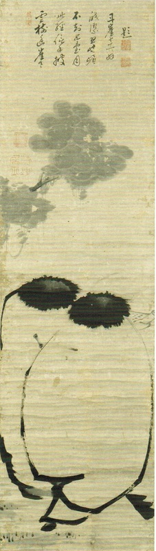 """Kanzan and Jittoku"" (ca. 1763), by Itō Jakuchū. Museum of East Asian Art, Cologne, Germany. Source: https://commons.wikimedia.org"
