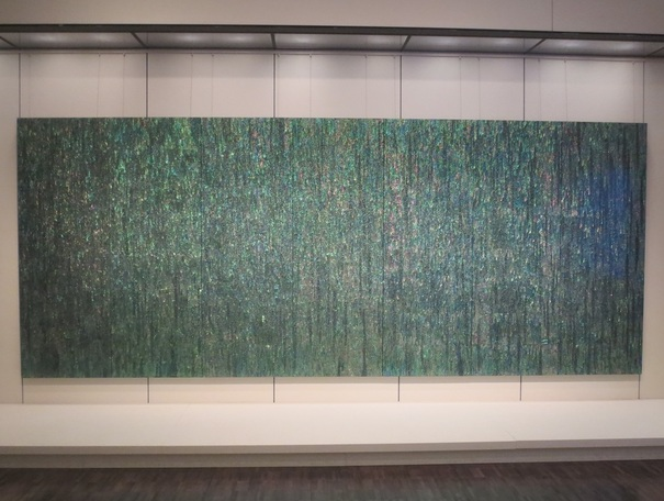 """1880-Summer-Forest-Gogh Series"" (2007), by Kim Yousun. On loan from the National Museum of Modern and Contemporary Art, Korea."