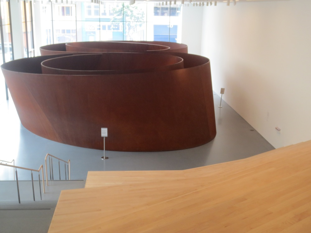 """Sequence"" (2006), by Richard Serra. Floor 1, Museum of Modern Art, San Francisco."