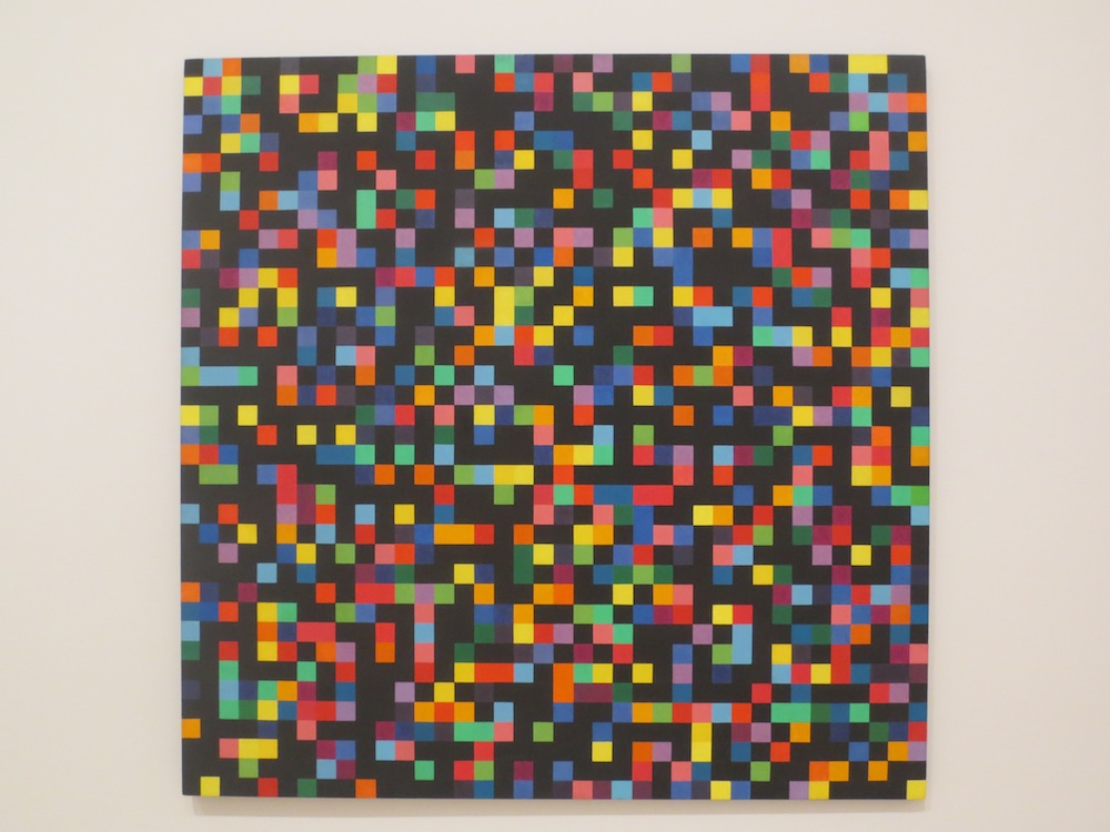 """Spectrum Colors Arranged by Chance"" (1951-1953), by Ellsworth Kelly. Museum of Modern Art, San Francisco."
