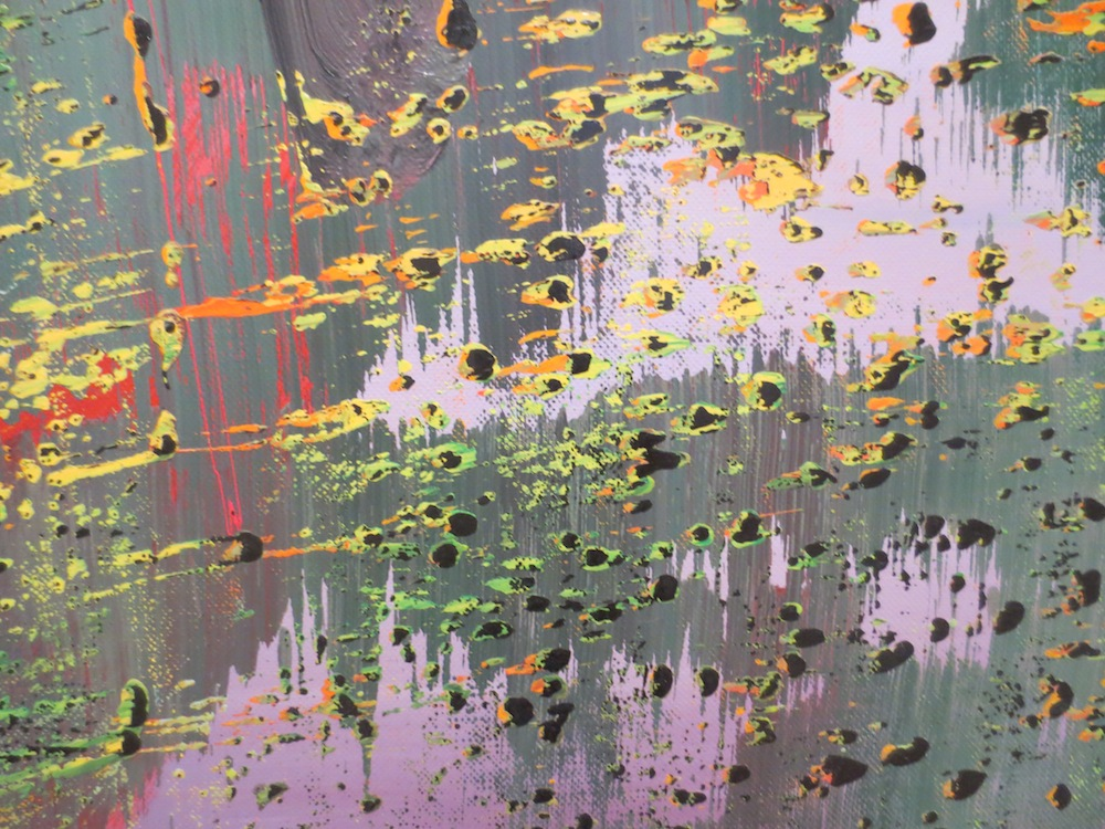 "Detail of ""Geäst"" (Branches), by Gerhard Richter, 1988. Museum of Modern Art, San Francisco."