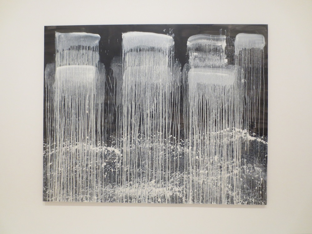 """Three Pointed Waterfall"" (1990), by Pat Steir. Museum of Modern Art, San Francisco."