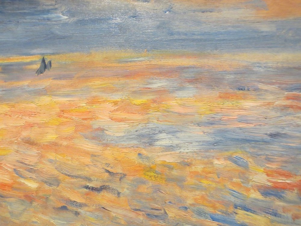 "Close-up of ""Sunset"" (1879 or 1881), by Pierre-August Renoir. The Clark Art Institute, Williamstown, MA."