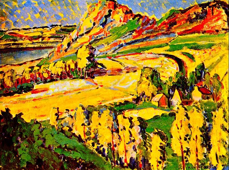 """Autumn in France"" (1910-1911), by Emily Carr. Source: https://commons.wikimedia.org/"