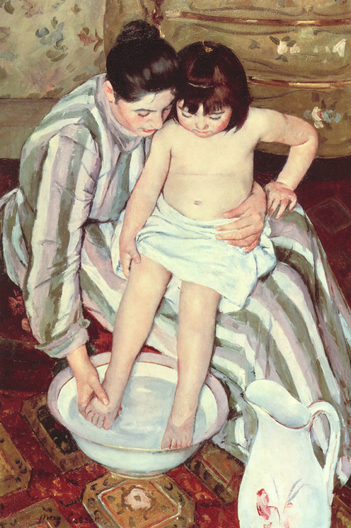 """The Bath"" (1891), by Mary Cassatt (1844-1926). Source: https://commons.wikimedia.org/wiki/"