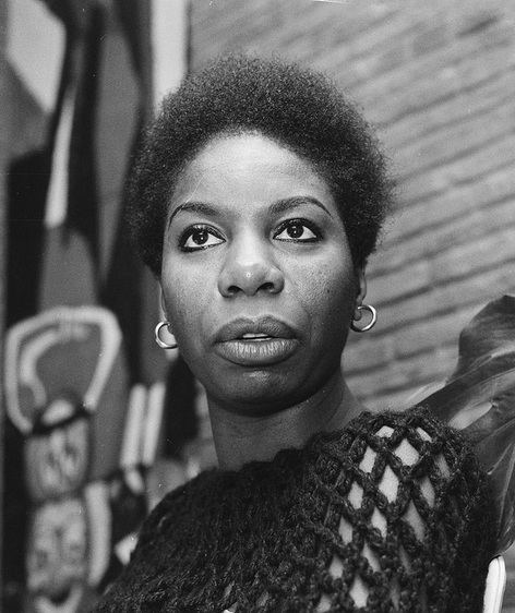 Nina Simone (1965), photo by Ron Kroon/Anefo. Source: https://commons.wikimedia.org/
