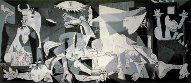 """Guernica"" (1937), by Pablo Picasso. Source: http://www.pablopicasso.org/guernica.jsp"
