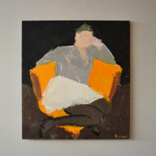 """Frances in the Corner Chair,"" by Sargy Mann. Source: www.cadogancontemporary.com"