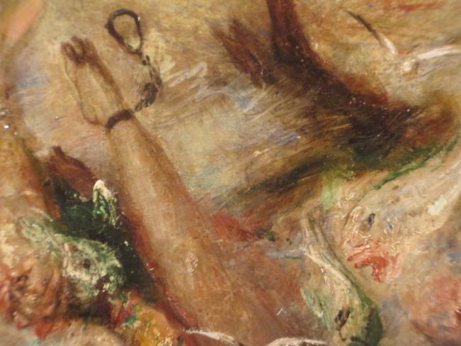 Detail of Joseph Turner's  Slave Ship  (1840). Museum of Fine Arts, Boston.