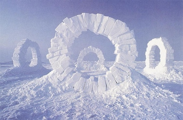 """Touching North ""  (1989), by Andy Goldworthy. Source: http://visualmelt.com/Andy-Goldsworthy"